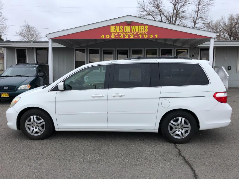 2005 Honda Odyssey EX w/ Leather (5FNRL38675B) with an 3.5L V6 SOHC 24V engine, 5-Speed Automatic transmission, located at 1821 N Montana Ave, Helena, MT, 59601, (406) 543-1986, 46.603153, -112.020531 - Photo #0